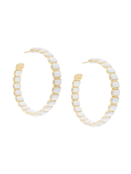 I.V.I. women earrings hoop earrings gold white jewels
