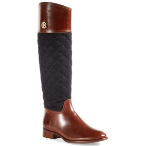 Tory Burch Almond and Charcoal Rosalie Riding Boot - Sale