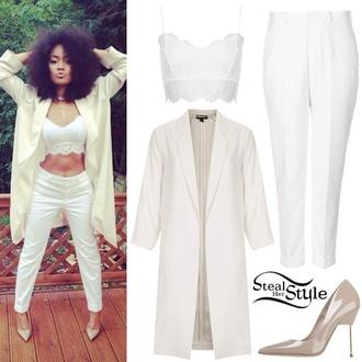leigh anne pinnock little mix white pants crop tops white crop tops top white crop top heels