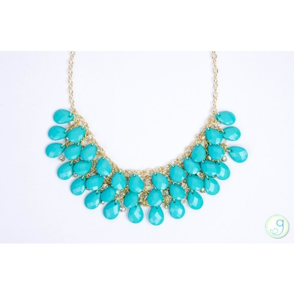Crystal Teardrop Necklace-2 Colors - Polyvore