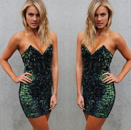 Emerald Sequin Dress