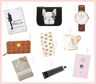 dariadaria blogger bag jewels holiday gift dog mug makeup bag