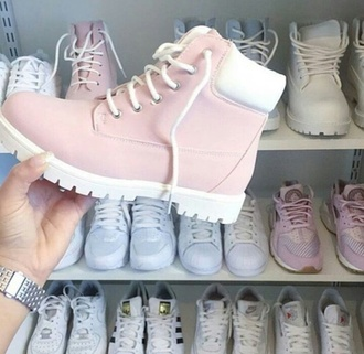 shoes pastel blue rose boots timberland boots shoes timberland timberlands