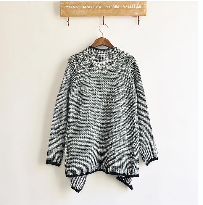 Black Long Sleeve Front Flecked Zip Cardigan - Sheinside.com