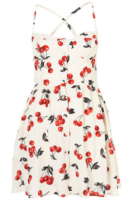 Topshop cream cherry glitter cupped sundress 50s vintage retro pinup uk 14 10 42 on ebay!