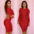 Hot Sexy Bandage Bodycon Celebrity Party Cocktail Evening Halter Dress Red R 0 | eBay