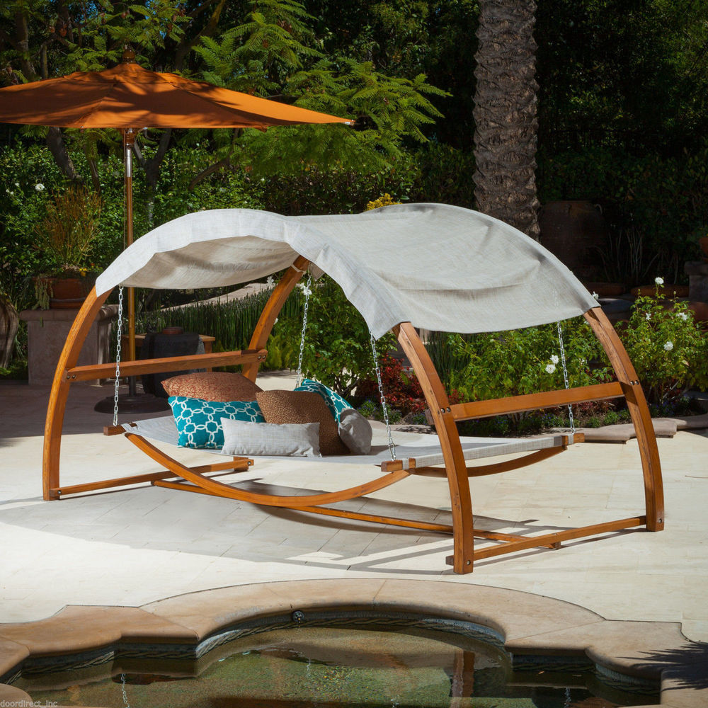 Hanging Canopy Bed Modern Outdoor Furniture Patio Hang ...