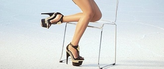 shoes black gold accents heels sandals open toes