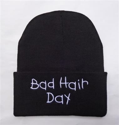 Bad hair day beanie black b