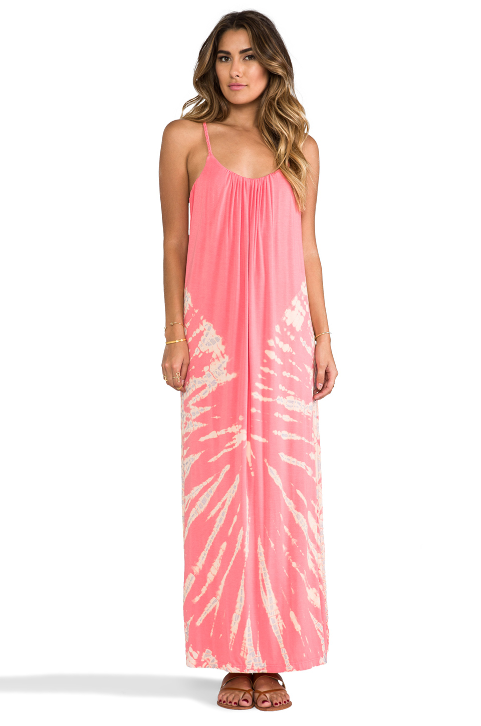 Gypsy 05 Spaghetti Maxi Dress in Salmon | REVOLVE