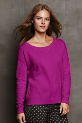 Women's Year Round Cashmere Tie-Back Sweater from Lands' End