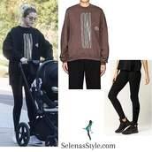 top,visitor on earth,selena gomez,black sweatshirt