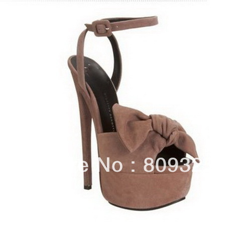 Hot sales Summer Giuseppe Bow Super High Heels Sandals GZ Shoes Sexy Suede Leather Sandals Platform Pumps Women Party Shoes-in Pumps from Shoes on Aliexpress.com