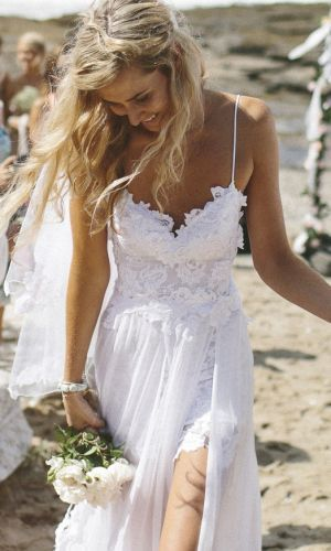 Boho lace wedding dress · thedarkqueen · online store powered by storenvy