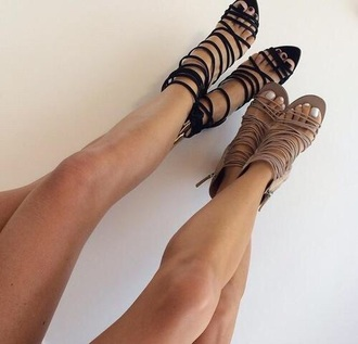 shoes strappy heels black heels nude high heels strappy black heels
