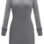 Grey Long Sleeve Cable Knit Sweater Dress - Sheinside.com