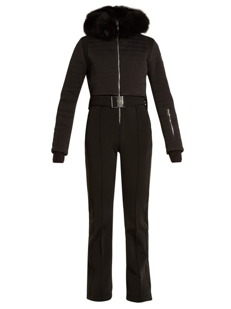jumpsuit fur black