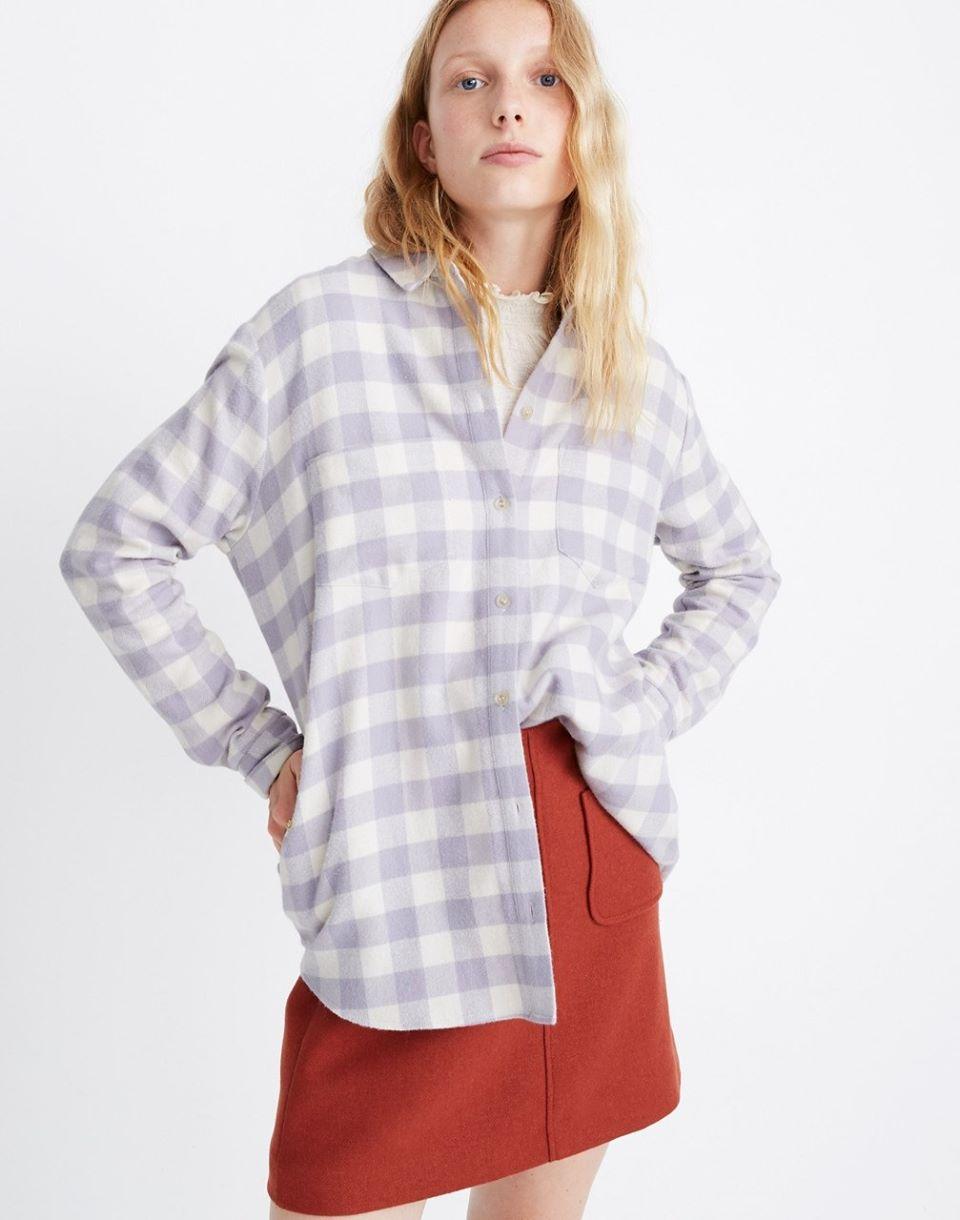 Women's Flannel Sunday Shirt in Latton Plaid