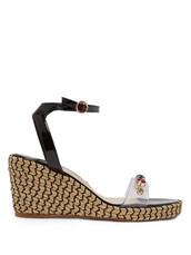 embellished,sandals,wedge sandals,black,shoes