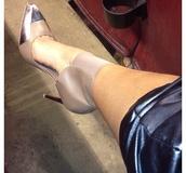 shoes,silver,grey,high heels,square,stilettos,designer,pretty,cute
