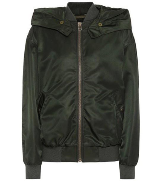jacket bomber jacket green