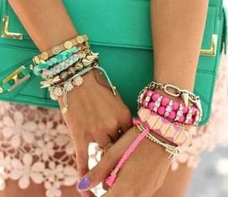 jewels blue gold hipster colorful jewelry pink turquoise indian aztec
