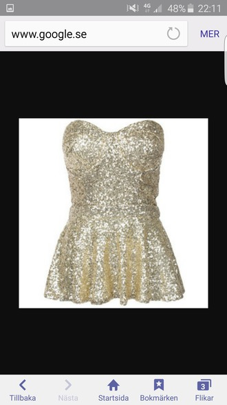 top peplum gold glitter party peplum top