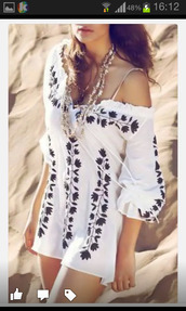 dress,top,trendy,white,summer,cute,stylish,fashion,black and white,style,beach,off the shoulder,rose wholesale-feb,hot,rose wholesale-ma,cover up