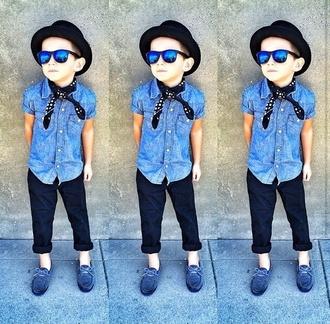 sunglasses guys kids fashion swag fedora loafers mirrored sunglasses scarf