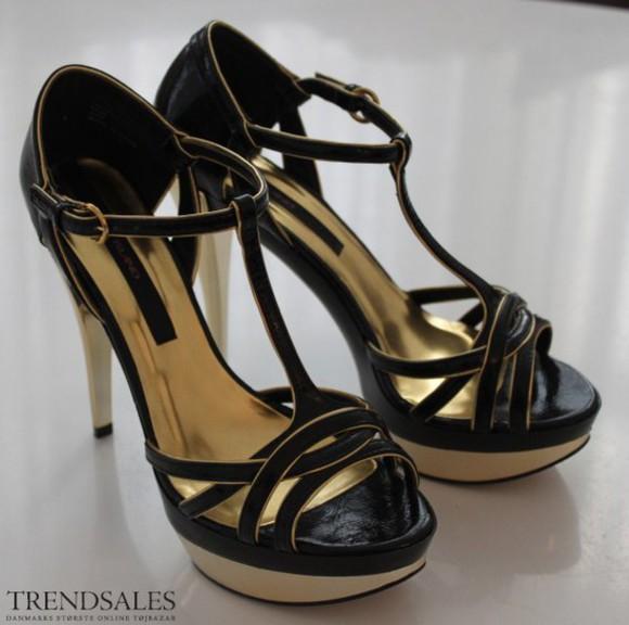 high heels black heels gold heels blackandgold riverisland strappy black and gold heels river island