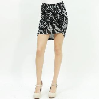 skirt knot mini skirt bodycon skirt zebra print style stylish cute skirt hot hot skirt trendy trendy skirt
