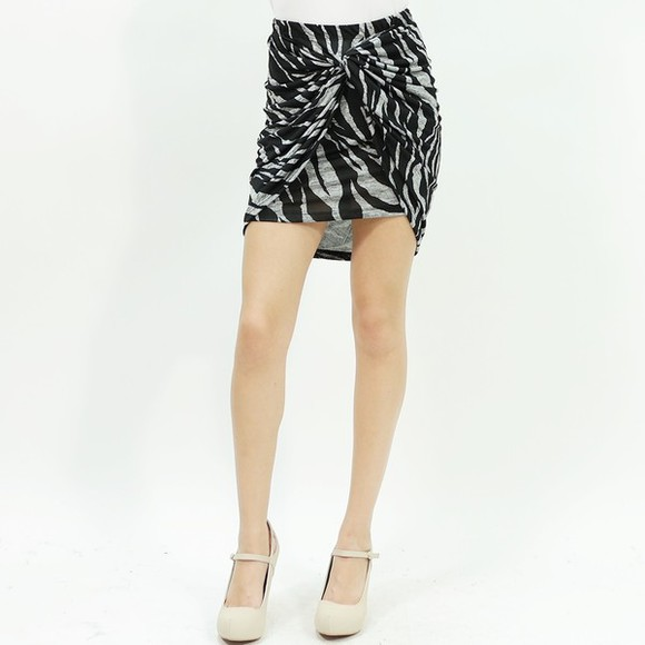 knot hot skirt trendy mini skirt bodycon skirt zebra print style stylish cute skirt hot skirt trendy skirt
