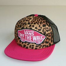 "VANS OFF THE WALL 'CLASSIC PATCH""TRUCKER HAT/CAP-SNAPBACK -PINK (CHEETAH PRINT) ,Anaheim, California, United States 		,QMstore.com"