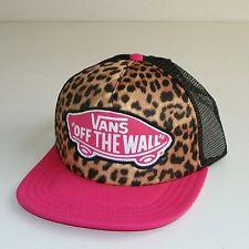 "VANS OFF THE WALL 'CLASSIC PATCH""TRUCKER HAT/CAP-SNAPBACK -PINK (CHEETAH PRINT) ,Anaheim, California, United States ,QMstore.com"