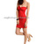 New Womens Knot Bandeau Wrapped Bodycon Strapless Red Skintight Party Mini Dress | eBay