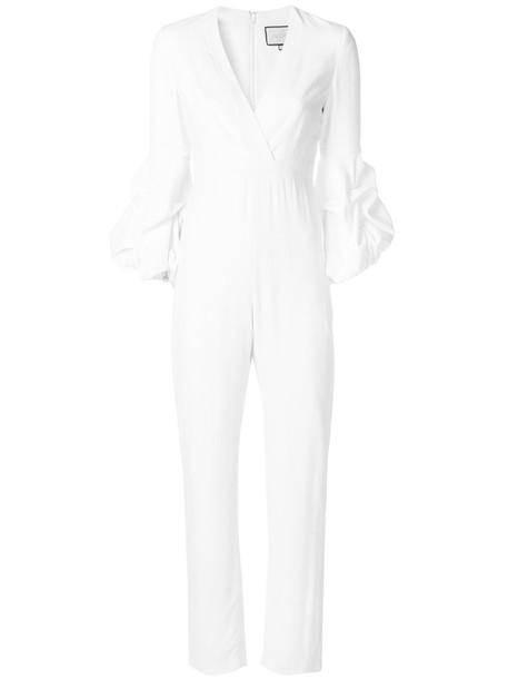 Alexis jumpsuit women spandex white