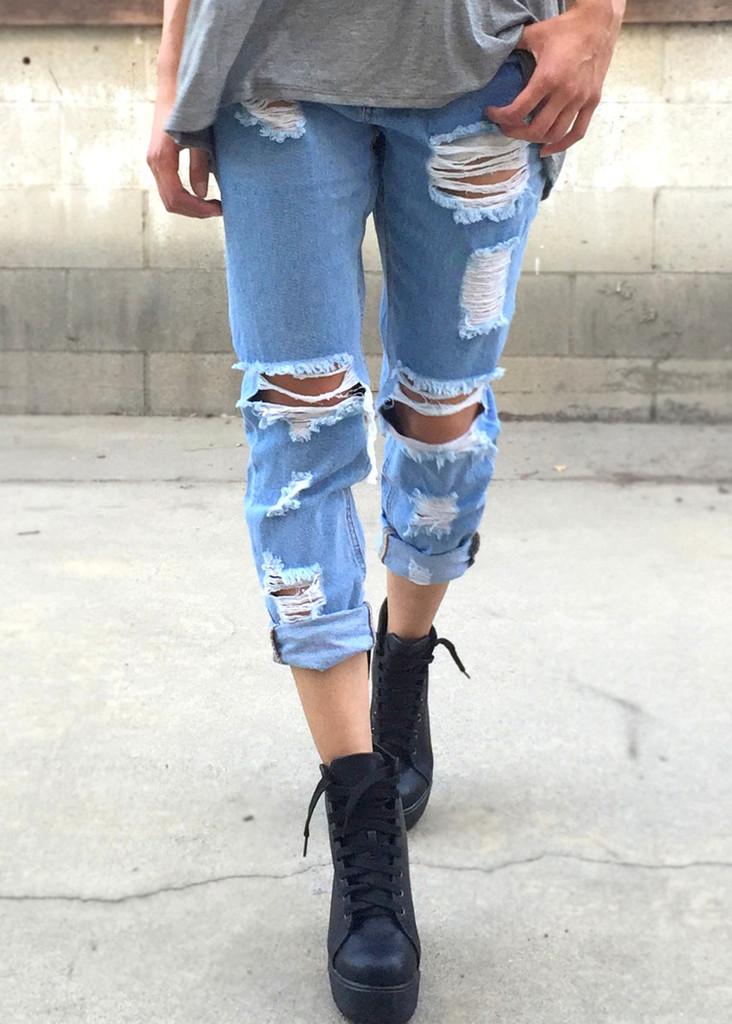 & Frayed BF Jeans – ShopCivilized