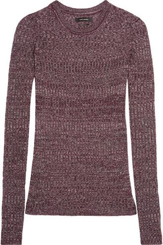 top knit burgundy