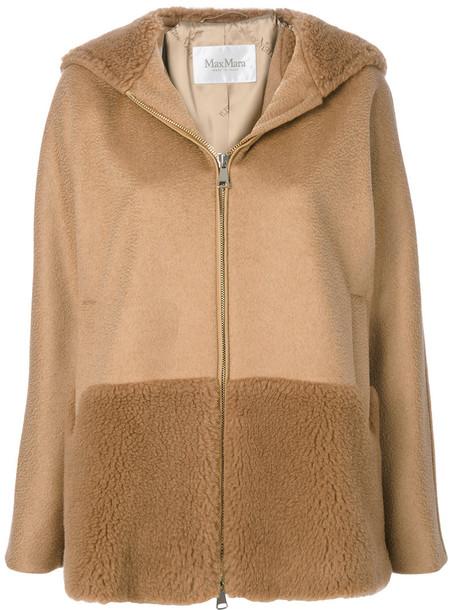 Max Mara jacket hooded jacket hair women brown camel