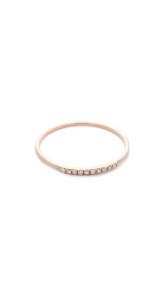 mini rose gold rose clear ring gold jewels