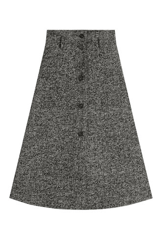 skirt wool grey