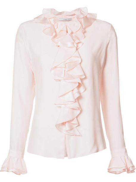 Tome shirt women silk purple pink top