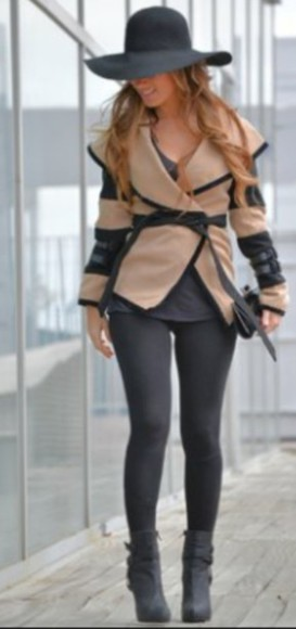 caramel cardigan leather jacket