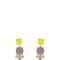 Color block stud earrings