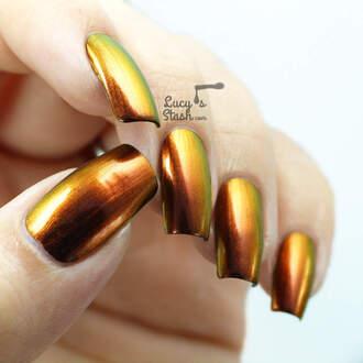 nail polish shiny metallic jewel metal nail nail art nails nailvarnish metallic nails