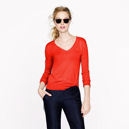 Featherweight cotton V-neck sweater - v-necks   henleys - Women s ... b36b9aee05