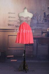 pink dress,short dress,beaded dress,chiffon dress,bridesmaid,prom dress,homecoming dress