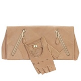 Alexander McQueen : FLESH BEIGE FAITHFUL GLOVE CLUTCH