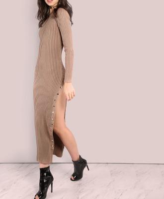 dress girl girly girly wishlist bodycon bodycon dress button up slit dress maxi maxi dress side split