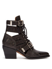 leather ankle boots,python,ankle boots,leather,black,shoes